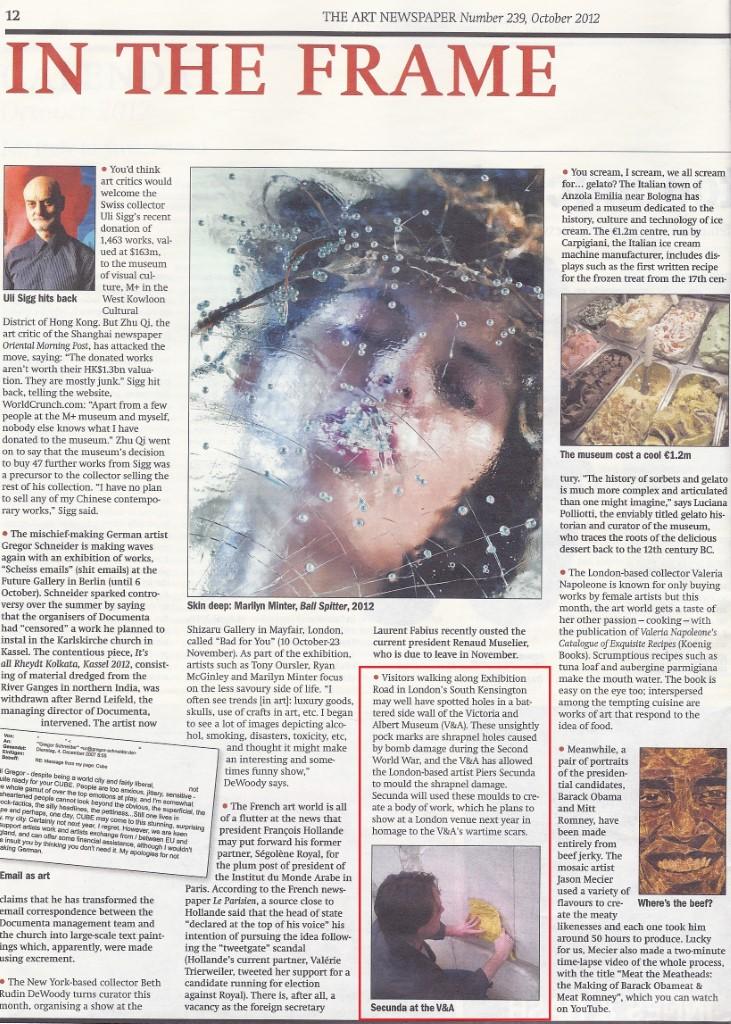 VA& Molds Art Newspaper 2012 with highlight